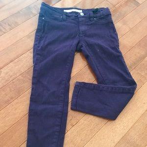 Joe's Jeans purple jeggings. Kid size 4.